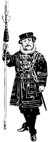 free vector Yeoman Of The Guard Bw clip art