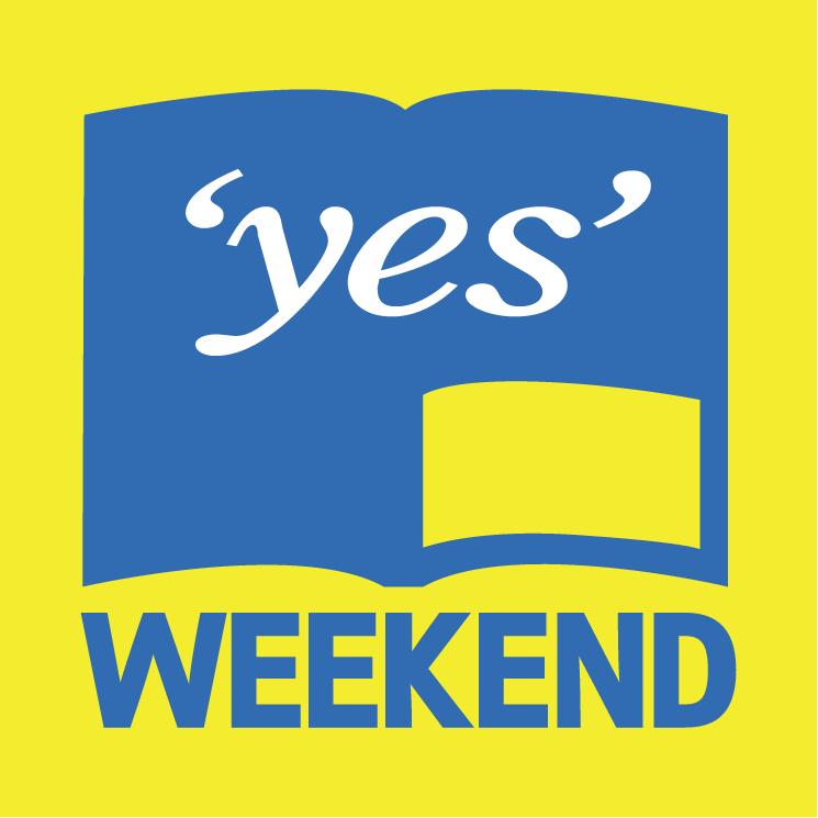 free vector Yes weekend