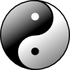 free vector Yin Yang clip art