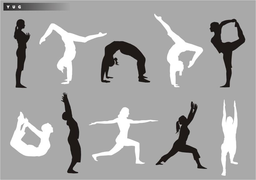 free vector Yoga silhouette vector