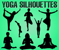 free vector Yoga Silhouettes