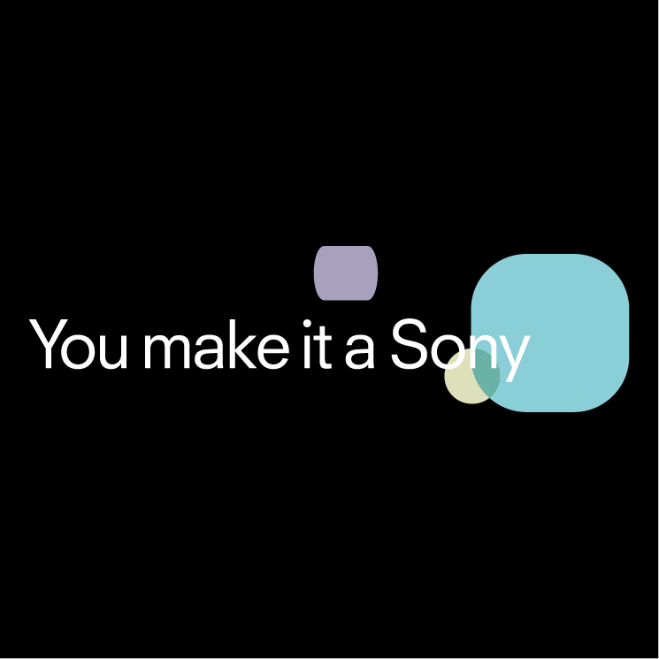 free vector You make it a sony