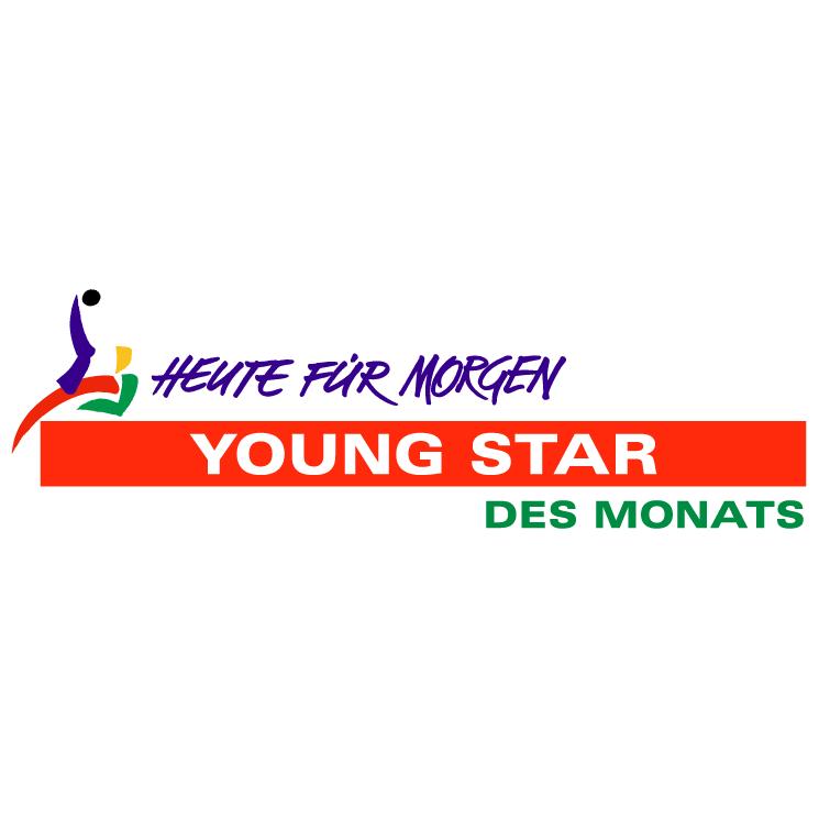free vector Young star des monats