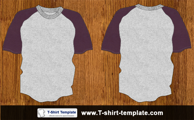 free vector Youth Raglan Vector T-shirt Template