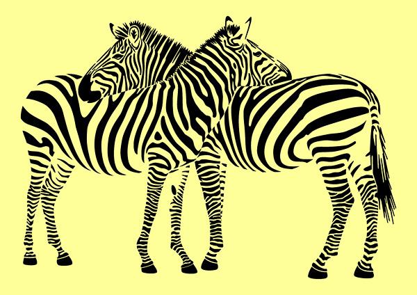 free vector Zebra vector material