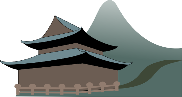 free vector Zen Temple clip art