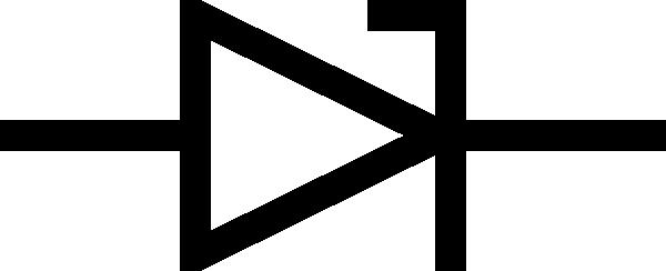 free vector Zener Diode Symbol clip art