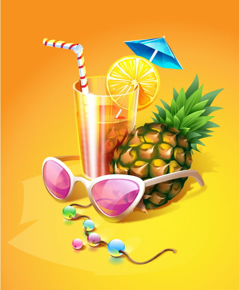 free vector Zest summer drink vector