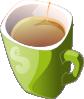 free vector Zielony Kubek HerbatyGreen Mug Of Tea clip art