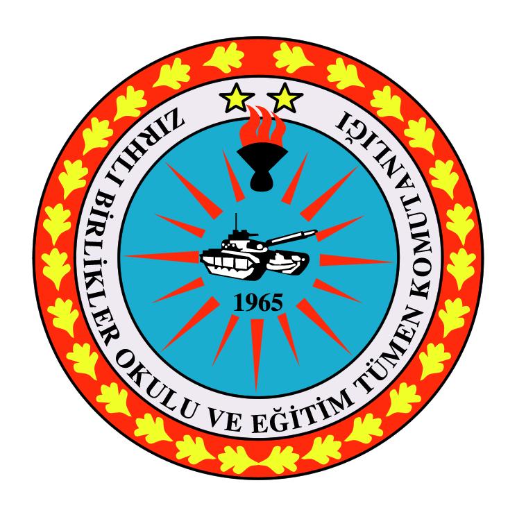 free vector Zirhli birlikler okulu ve egitim