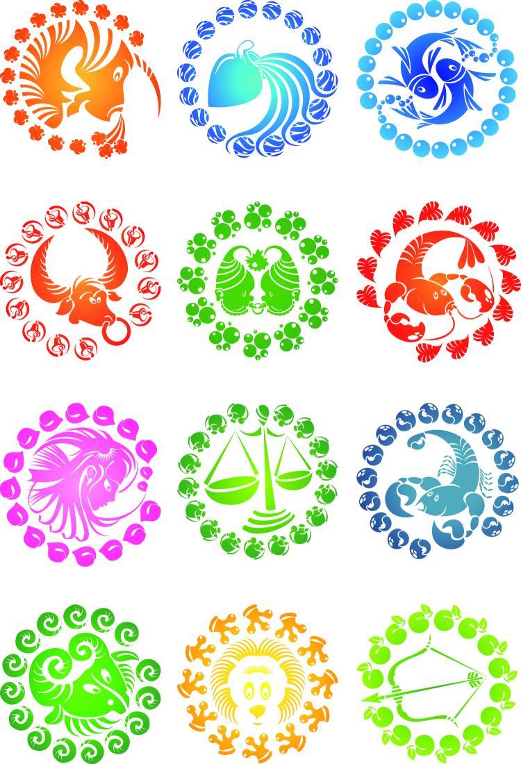 free vector Zodiac creative icons vector