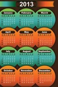 free vector 2013 calendars design vector