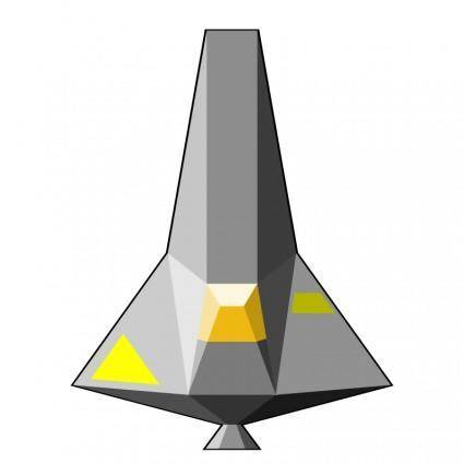 free vector Single-Seater Space Craft