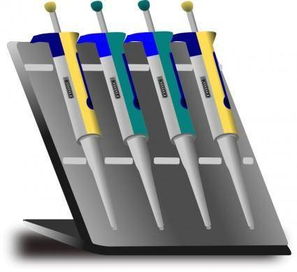 free vector Pipette stand