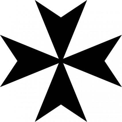free vector Maltese cross