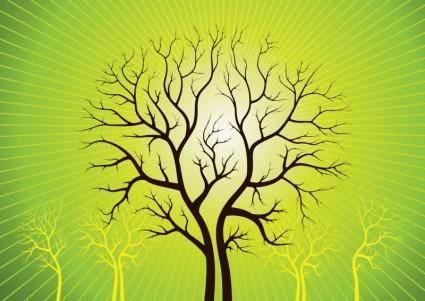 free vector Vector Art Trees