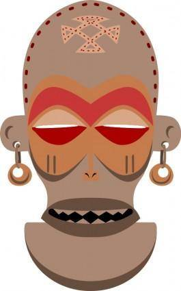 free vector African Mask. Chokwe, Angola, Zaire