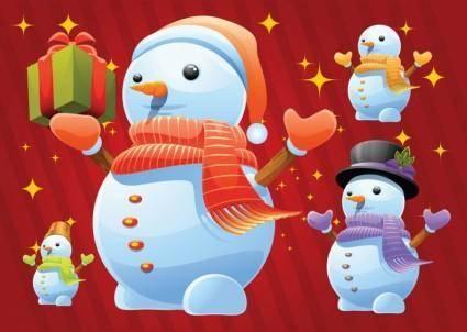 free vector Free Snowman Vectors