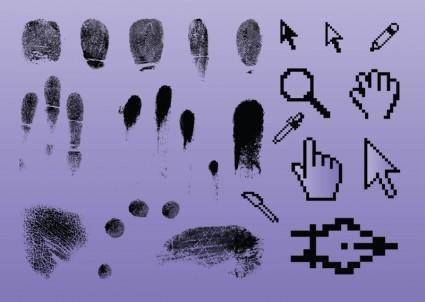 free vector Fingerprint Pointer Graphics