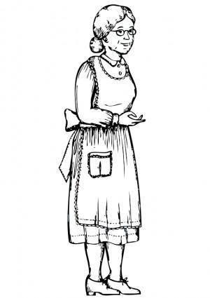 free vector Grandma - outline