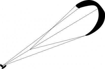 free vector Kitesurf silhouette