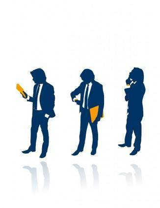 free vector Business People Siluete