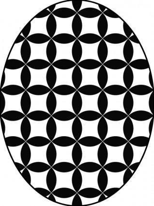 free vector Pattern circles bw