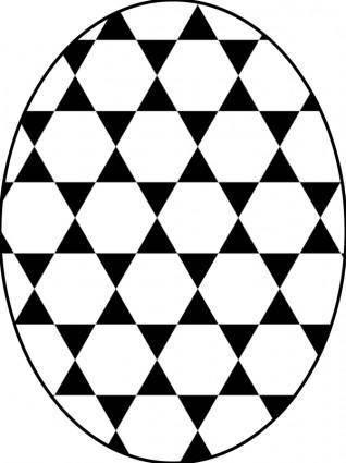 Pattern star hexagonal