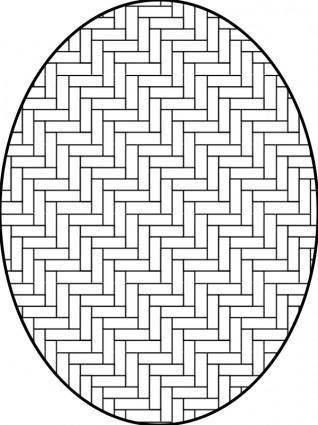 Pattern herringbone outline