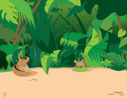 free vector Jungle Plants