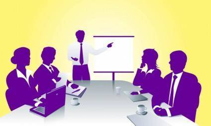 free vector Business Meeting