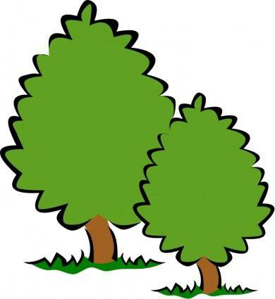 free vector Small Trees / Bushes