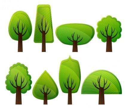 free vector Simple Trees