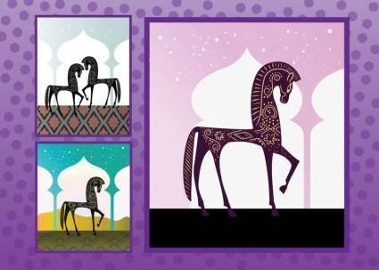 free vector Arabian Horses