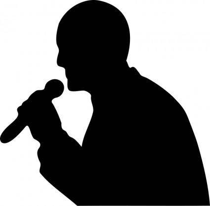 free vector Man with a microphone