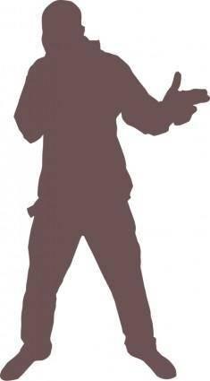 free vector Hip Hop dude