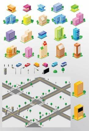 free vector City Building Vectors