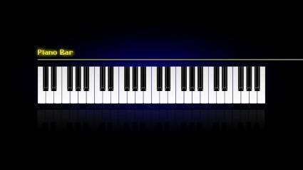 free vector Piano Bar Wallpaper