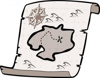 free vector Treasure map