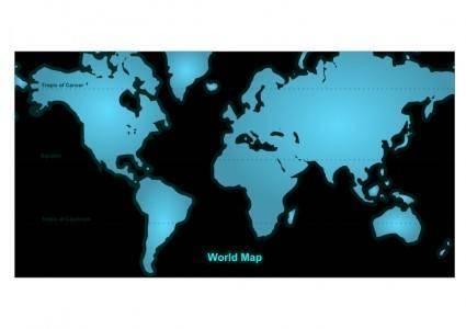 free vector World Map 2