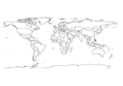 free vector World Map 1