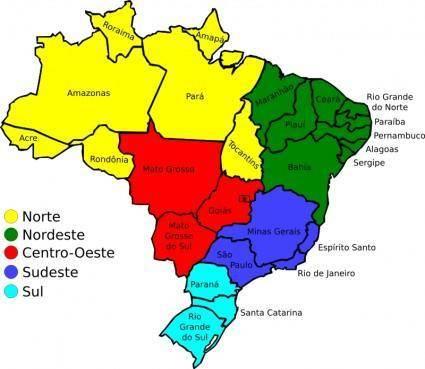 Map of Brazil, v3