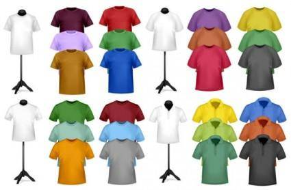 free vector Shortsleeve tshirt template 03 vector
