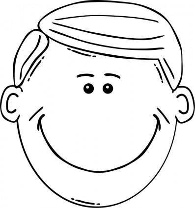 free vector Man Face Cartoon