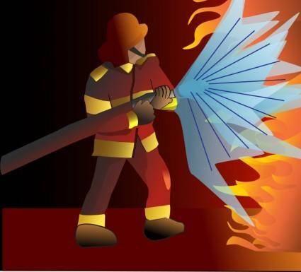 free vector Firefighter/pompier2