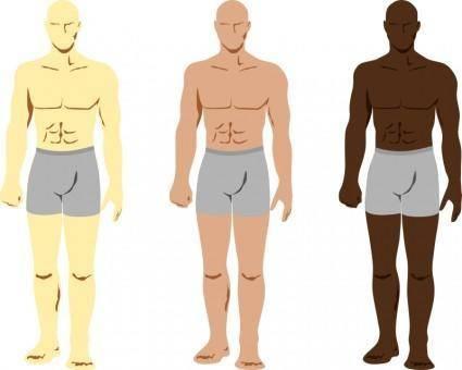 free vector Siluetas personajes masculinos