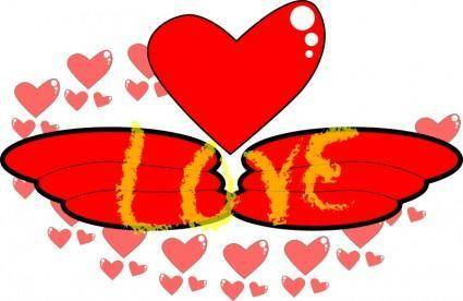 free vector Love,Wing
