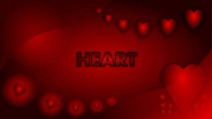 free vector Valentine Heart Wallpaper