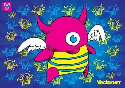 free vector Little Monster
