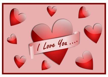 free vector I Love You Card
